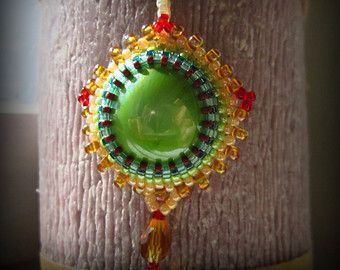 Tiger eye pendant necklace,beaded ,handmade - Edit Listing - Etsy