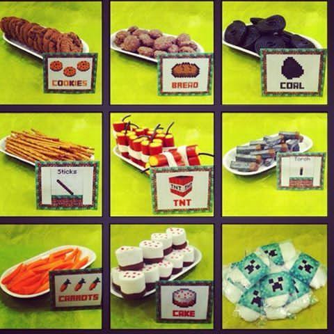 Favvo i repris! #minecraft #minecraftonly #spelkalas #kalas #barnkalas #barnkalasinspo #creeper #coockies #bread #coal #sticks #tnt #torch #carrots #cake #sockervadd #sugarcandy #pyssel #pysseltips #diy #makeandcreatekalas