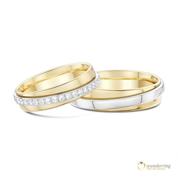 Eheringe gold mit 3 diamanten  Die besten 20+ Ehering 750 Ideen auf Pinterest | Ehering 750 ...