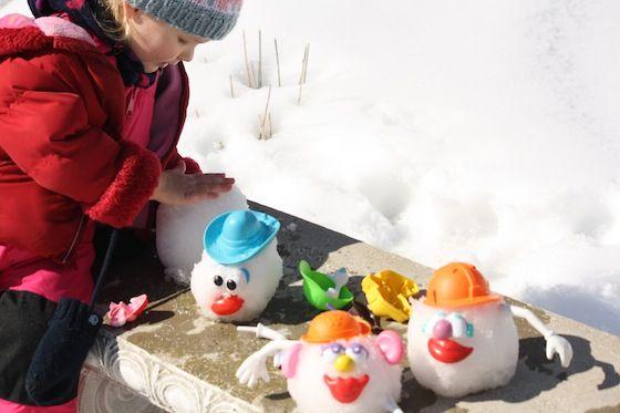 M. Patate dans la neige