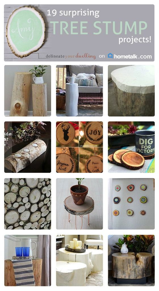 Ok, I never knew that you could make so much from an old tree stump. I NEED those Christmas decorations!