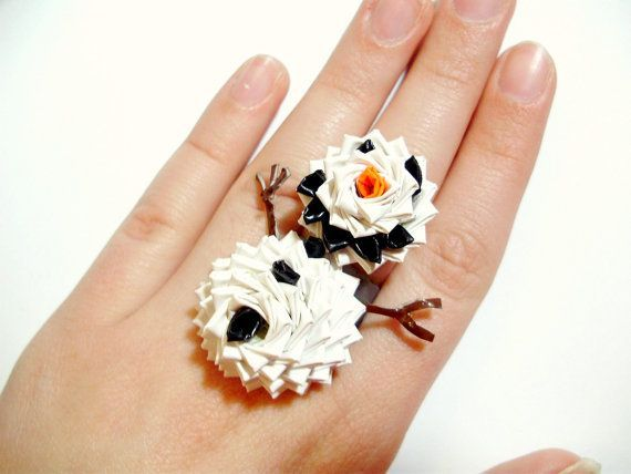 snowman duct tape ring:)