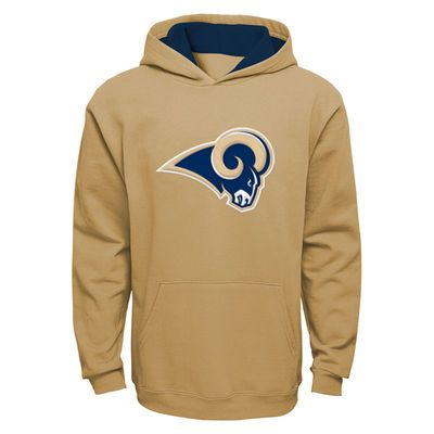 Los Angeles Rams Youth Fan Gear Prime Pullover Hoodie - Gold