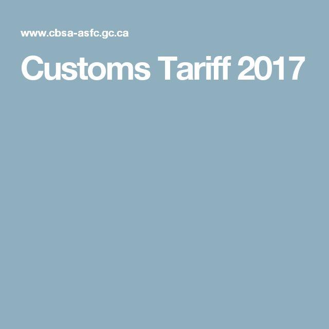 Customs Tariff 2017