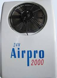 Airpro 2000 DC powered truck air conditioner for truck cabin is the high efficiency 12V/24V battery-powered air conditioning system that keeps truck cabs cool. DC powered truck A/C for sales
