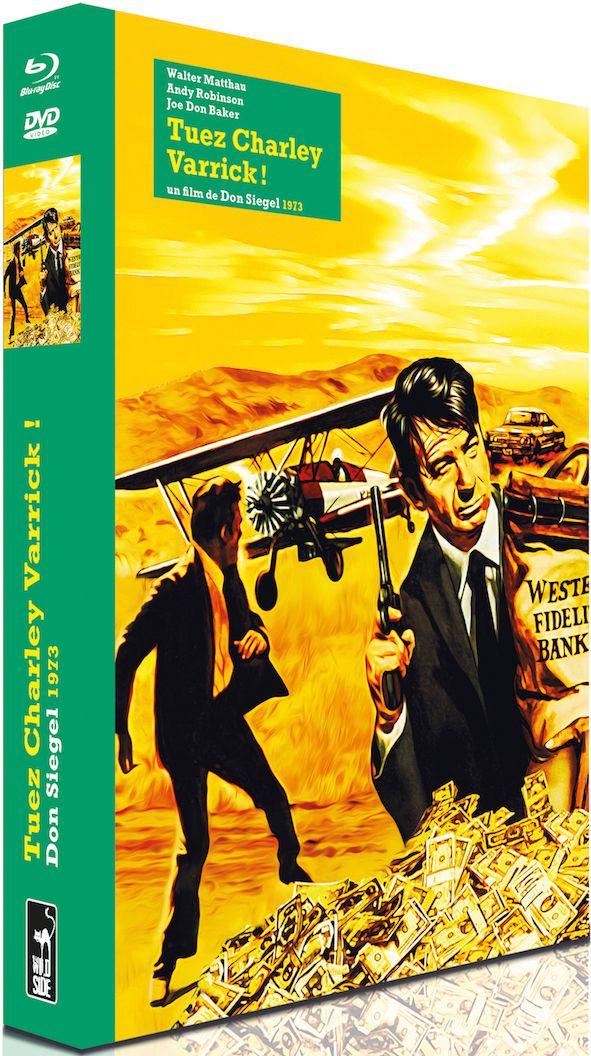 Critique de Tuez Charley Varrick de Don Siegel (1973), avec Walter Matthau, disponible dès aujourd'hui en combo DVD/Blu-ray+Livre de 180 pages, édité par Wild Side