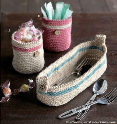 Inspiration - cute silverware basket