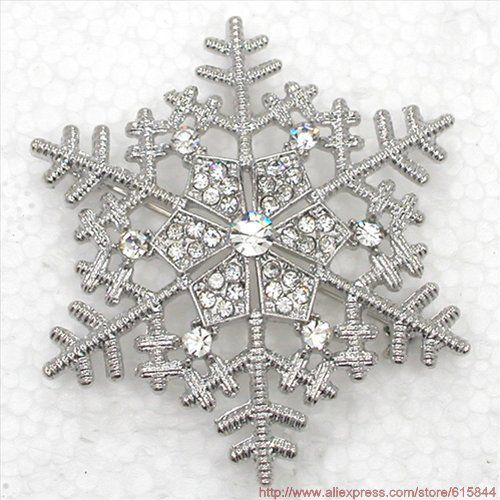 Beautiful Sequined Clear Crystal Rhinestone Snowflake Flower Christmas gift Brooch Wedding Party Jewelry Broochs & Pendant 927 A-in Brooches from Jewelry on Aliexpress.com  !/$6.66 or 6or more/$3.33
