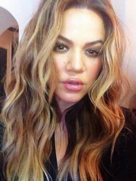 Khloe kardashian hair hightlights