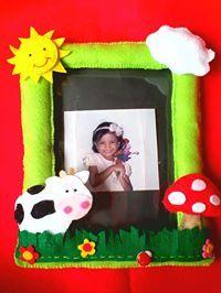 felt photo frame