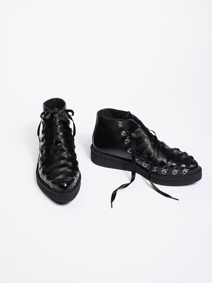 T.U.K Footwear T.U.K Corset Creeper Boot at Free People Clothing Boutique