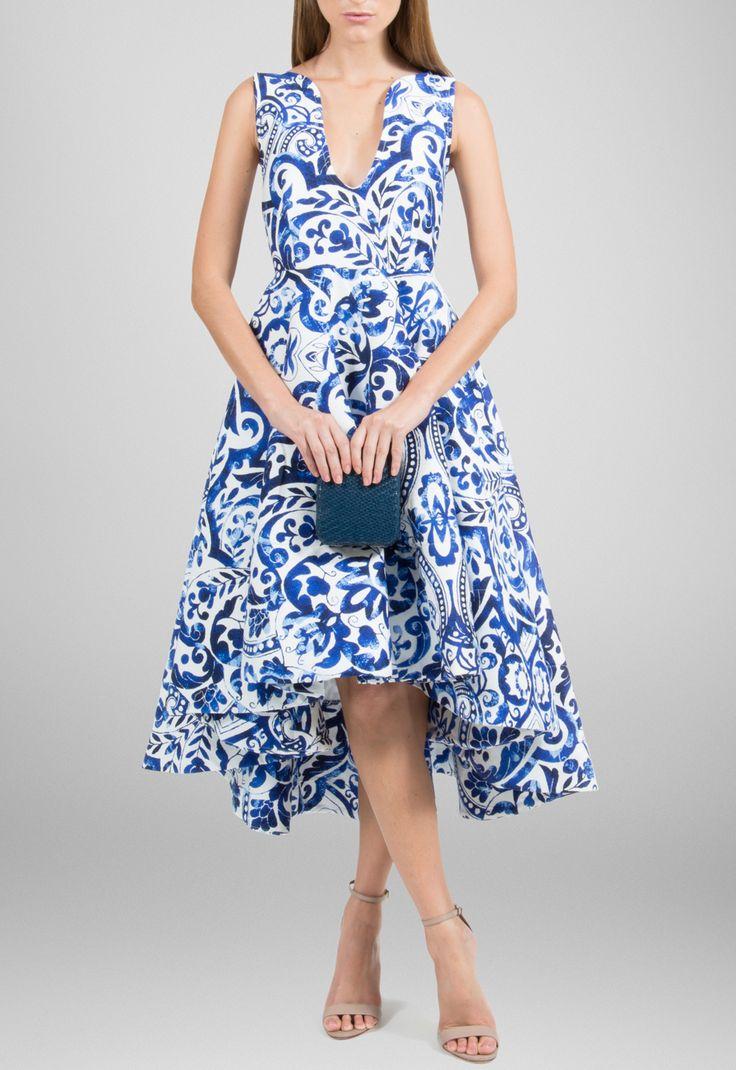 Vestido mullet estampa de azulejo Powerlook - powerlook