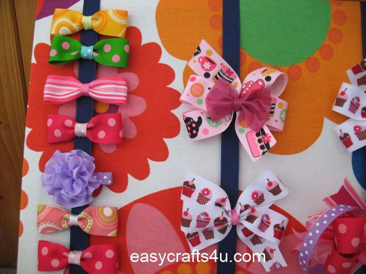Easy Crafts 4 U   Hair clip display board