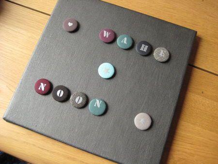 tableau toile peinte la peinture magn tique peinture tableau et badges alphabets aimant. Black Bedroom Furniture Sets. Home Design Ideas