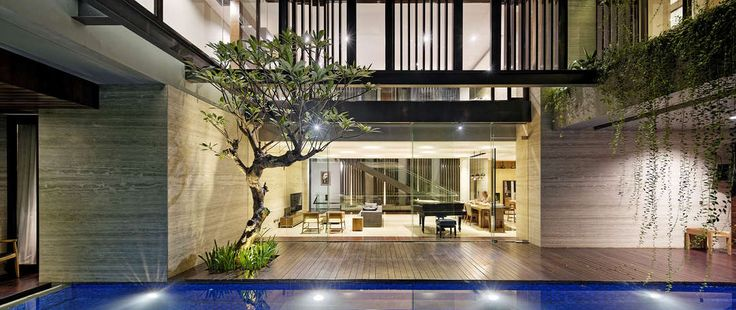 Situated in an intense residential area of South Jakarta, Ben House is a three-story 800 m2 house built on a400 m2 site where every story represents differen...
