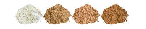 FDT poudre Mineral silk  500  Transparente matifiante   501 Beige clair  502 Beige rosé     503 Beige orangé