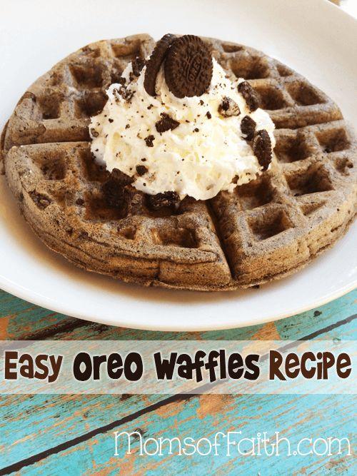 Easy Oreo Waffles Recipe