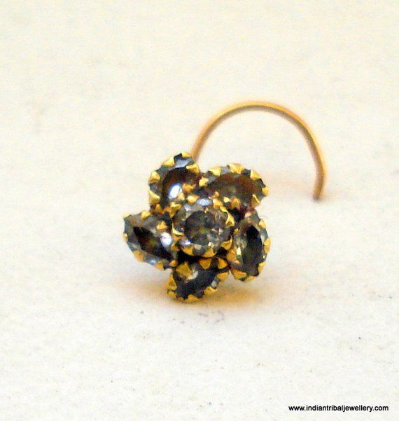 antique rajasthani nose ring, i like the flower design
