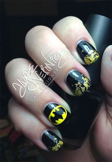 There are 65 newest and creative halloween nail art designs 2018! Hope they  can inspire you and read the article to get the gallery. - 65 Newest And Creative Halloween Nail Art Designs 2018 Nails Art
