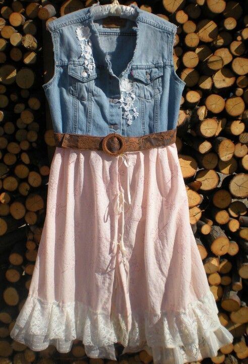 denim shirt or vest refashion
