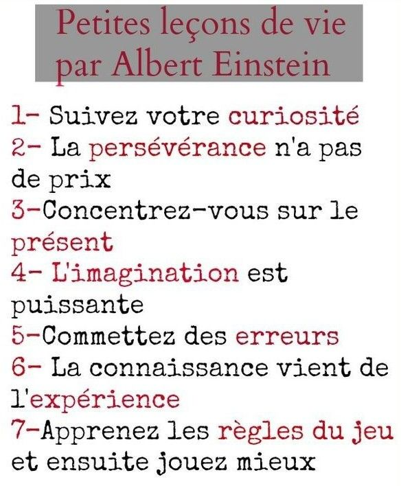 Leçons de vie - Albert Einstein