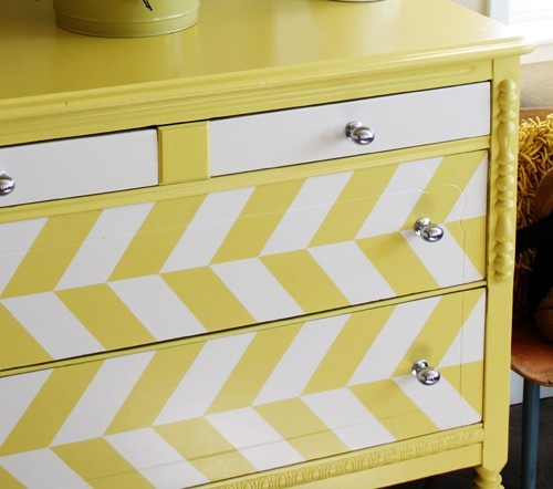 chevron painted furniture. 10 Fun Painted Dressers \u0026 Desks For Kids (Chevron, Stripes Polka Dots Chevron Furniture E