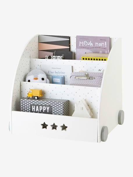 Bücherregal 'Sirius' für Kinderzimmer weiß/grau 3