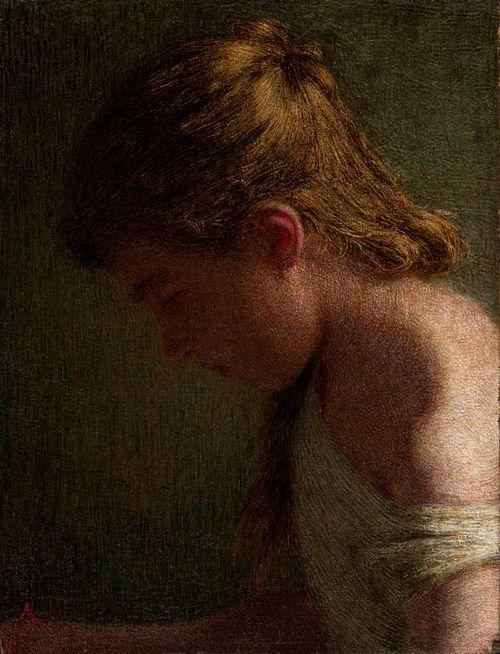 Angelo Morbelli (1854 - 1919) - Sad soul, circa 1910