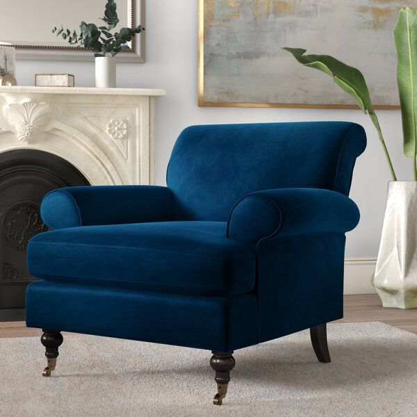 A Little Glam A Little Classic Totally Your Style Whether You Want A Pair Of Armchairs For Your Retro Inspired Living Armchair Furniture Blue Accent Chairs