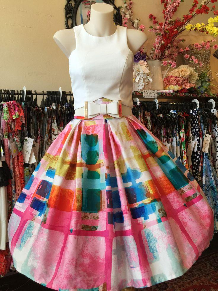 Francesca Double Box Pleated Skirt – GiGi's Fairy Fashion