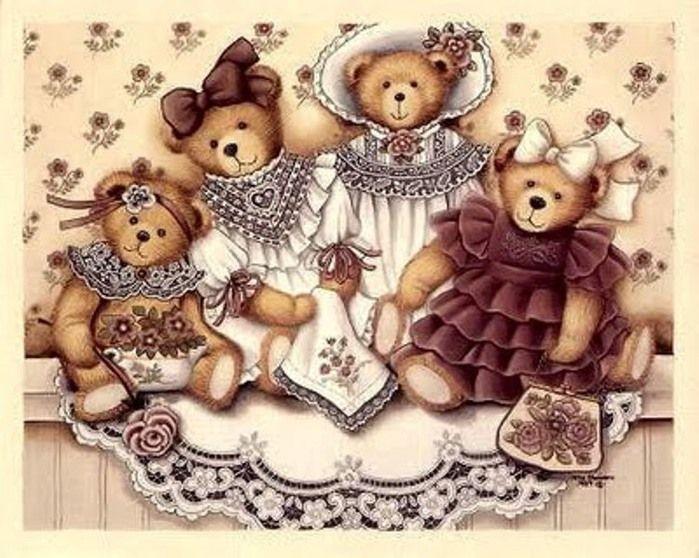 Картинки медвежат для декупажа