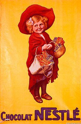 Cartel Chocolates Nestlé años 20 – Anuncios vintage Nestlé