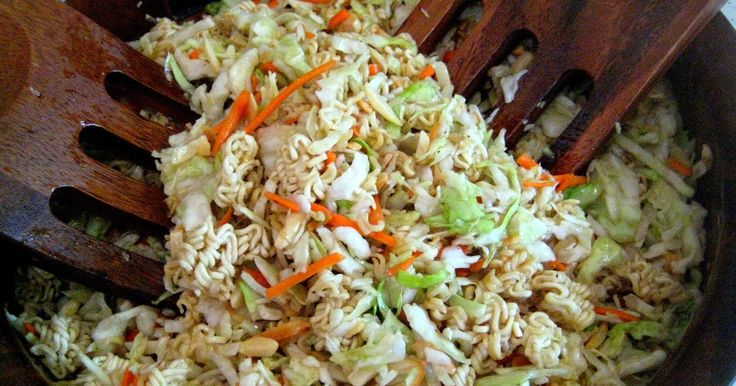 Kevin Bacon's CRUNCHY ASIAN SLAW. Everybody and Their Brother Has It. Made this for Kathe's Memorial