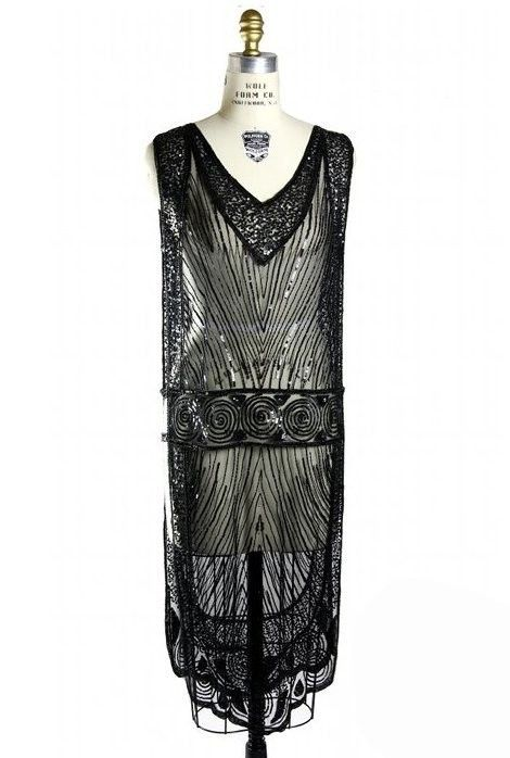 Great Gatsby Style Tabard Dress in Kohl | Roaring Twenties & Flapper Style Dresses | Art Deco & 1920s Inspired Gowns | Vintage | The Deco Haus