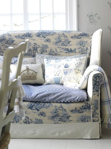 toile couch slipcover