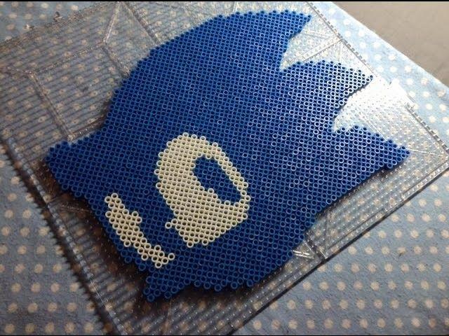 Sonic Team Logo (SEGA) ~ Perler Bead (Stop Motion)