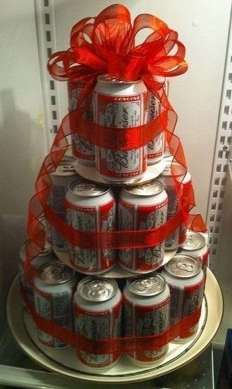 Beer Cake! great prize for the guys who play any games.                                                                                                                                                     More