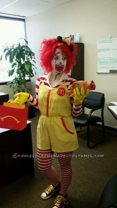 Super Creepy Serial Killer Ronald McDonald Costume