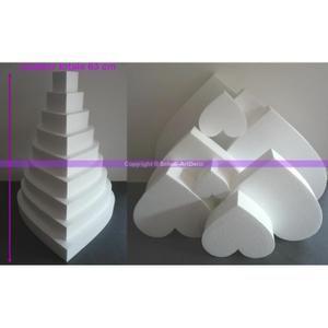 support dcorer pice monte coeur en polystyrne densit pro - Presentoir Piece Montee Mariage