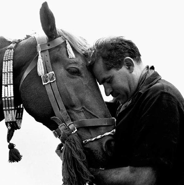 """Agios Nikolaos, Kritsa, 1960s, Jules Dassin's film """"He Who Must Die"""" (Celui qui doit mourir, 1957) based on the novel of Nikos Kazantzakis, photography: Dimitris Papadimos"""