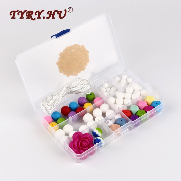 compare prices tyry hu silicone beads choker pacifier clip diy silicone set baby teething #silicone #teething #necklace