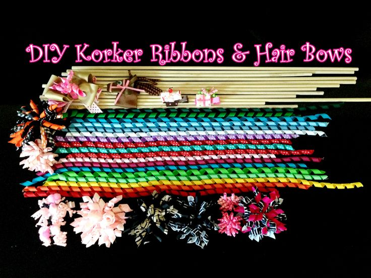 How to make Korker ribbons and hair bows   Easy DIY tutorial