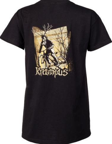 krampus on a bike t shirt
