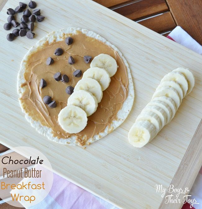 Chocolate Peanut Butter Breakfast Wrap - the easiest breakfast wrap recipe ever!