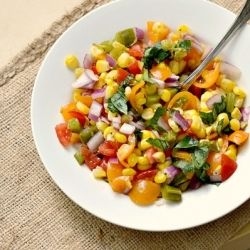 Fire Roasted Corn Salsa - An amazing dip for your favorite chip!