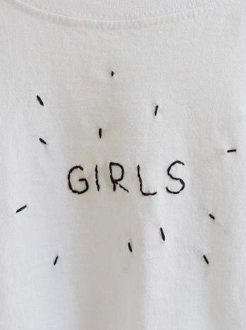 "sosisku: "" girls hand embroidered shirt """