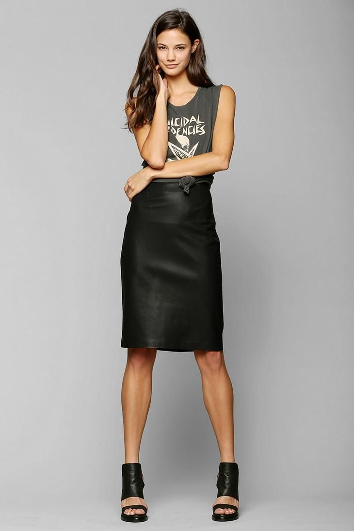 BB Dakota Joanna Vegan Leather Pencil Skirt #urbanoutfitters