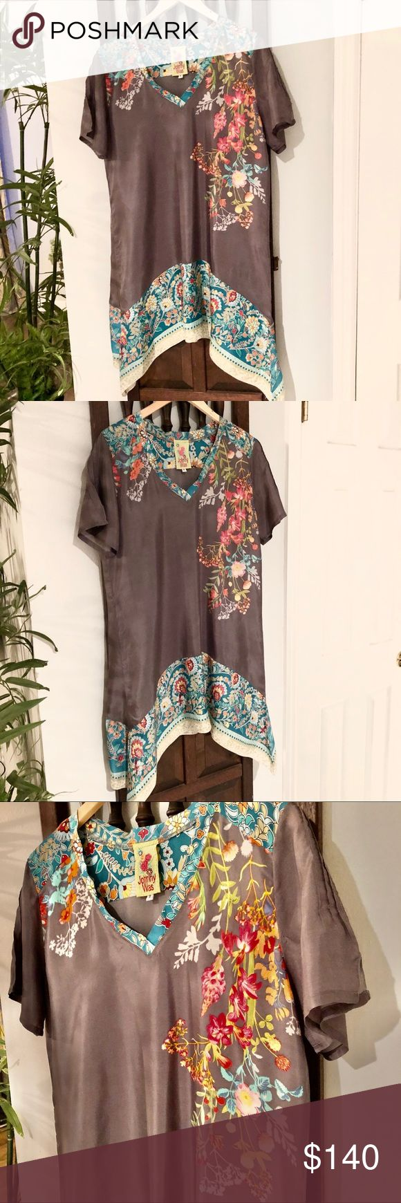 Best Johnny Was Gray Silk Tunic Dress In 2020 With Images 400 x 300