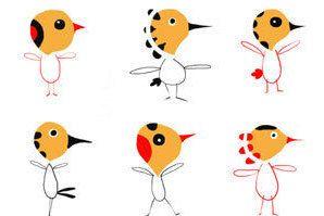 Birds Decor Home Art room Kids Children Animal di marilenapasini