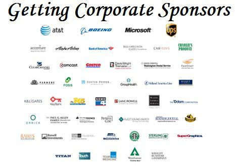 10 tips on getting corporate sponsors for your fundraising event. Article explains how to find sponsorships by seeking companies with both an affinity for your cause, plus a synergy with your event. Use a written business proposal showing what's in it for them. FundraiserHelp.com